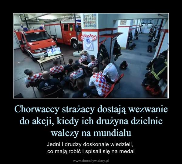 Chorwaccy strażacy dostają wezwanie do akcji, kiedy ich drużyna dzielnie walczy na mundialu – Jedni i drudzy doskonale wiedzieli, co mają robić i spisali się na medal