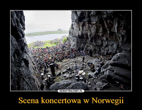 Scena koncertowa w Norwegii –