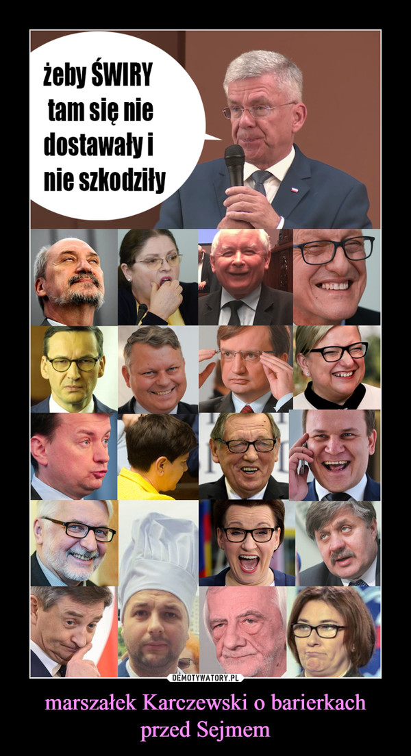 marszałek Karczewski o barierkach przed Sejmem –