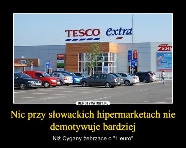 """Nic przy słowackich hipermarketach nie demotywuje bardziej – Niż Cygany żebrzące o """"1 euro"""""""