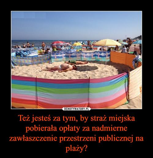 Też jesteś za tym, by straż miejska pobierała opłaty za nadmierne zawłaszczenie przestrzeni publicznej na plaży?