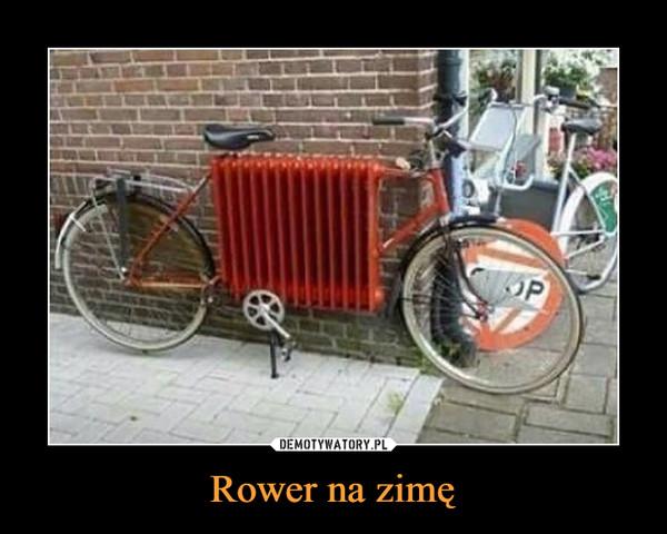 Rower na zimę –