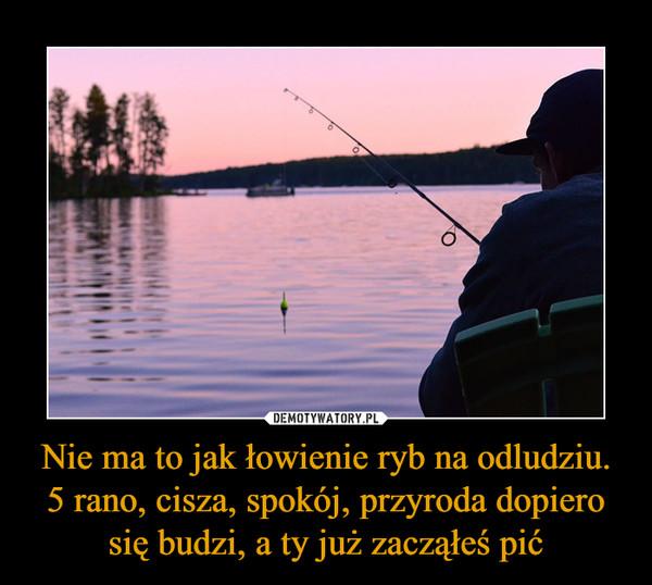 Nie ma to jak łowienie ryb na odludziu. 5 rano, cisza, spokój, przyroda dopiero się budzi, a ty już zacząłeś pić –