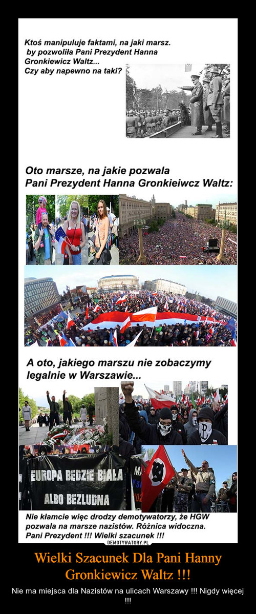 Wielki Szacunek Dla Pani Hanny Gronkiewicz Waltz !!!