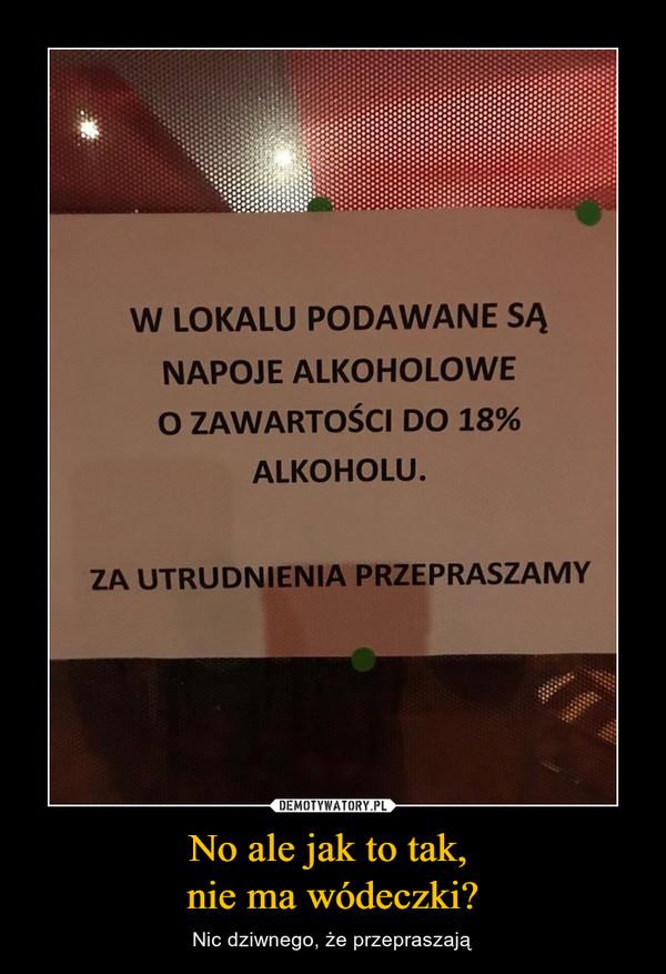 No ale jak to tak, nie ma wódeczki? – Nic dziwnego, że przepraszają W LOKALU PODAWANE SĄ NAPOJE ALKOHOLOWE O ZAWARTOŚCI DO 18% ALKOHOLU. ZA UTRUDNIENIA PRZEPRASZAMY