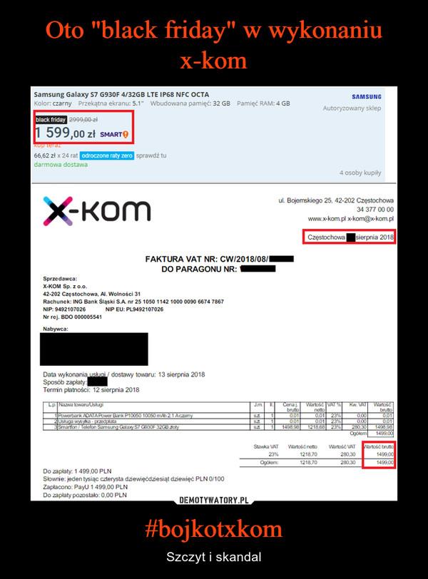 #bojkotxkom – Szczyt i skandal