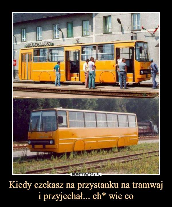 Kiedy czekasz na przystanku na tramwaj i przyjechał... ch* wie co –