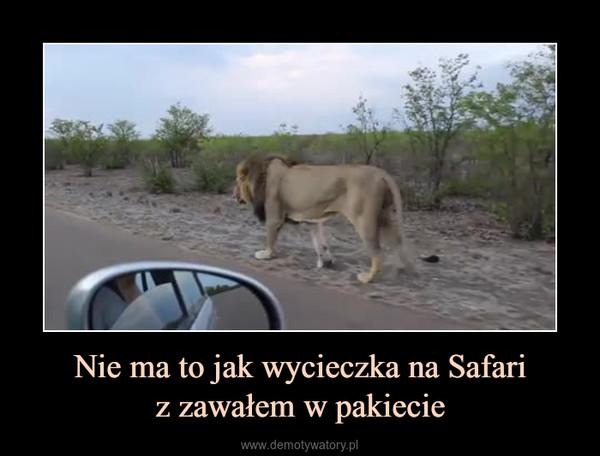 Nie ma to jak wycieczka na Safariz zawałem w pakiecie –