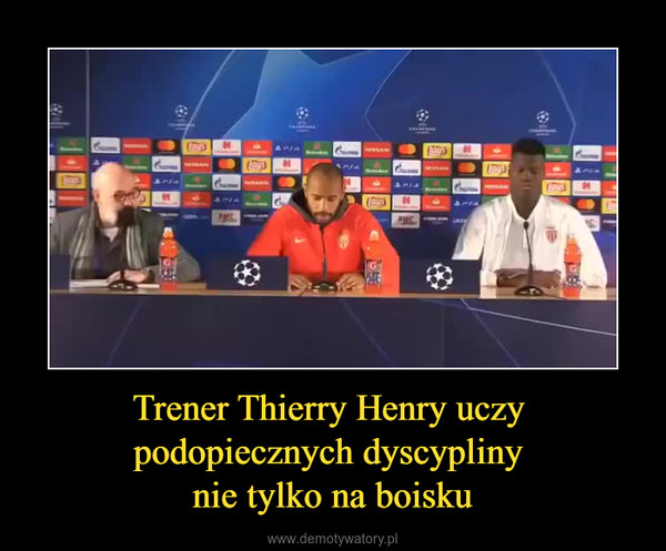Trener Thierry Henry uczy podopiecznych dyscypliny nie tylko na boisku –