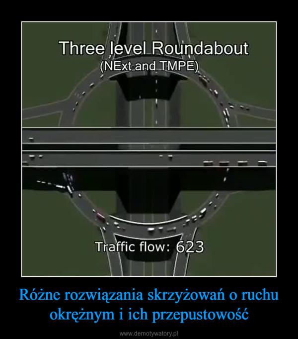 Różne rozwiązania skrzyżowań o ruchu okrężnym i ich przepustowość –