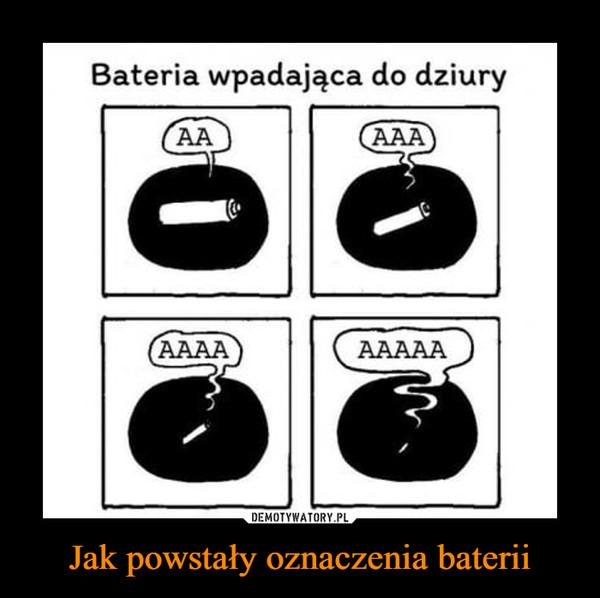 Jak powstały oznaczenia baterii –  Bateria wpadająca do dziury