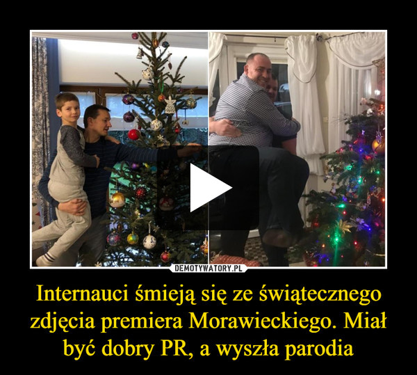 Internauci śmieją się ze świątecznego zdjęcia premiera Morawieckiego. Miał być dobry PR, a wyszła parodia –