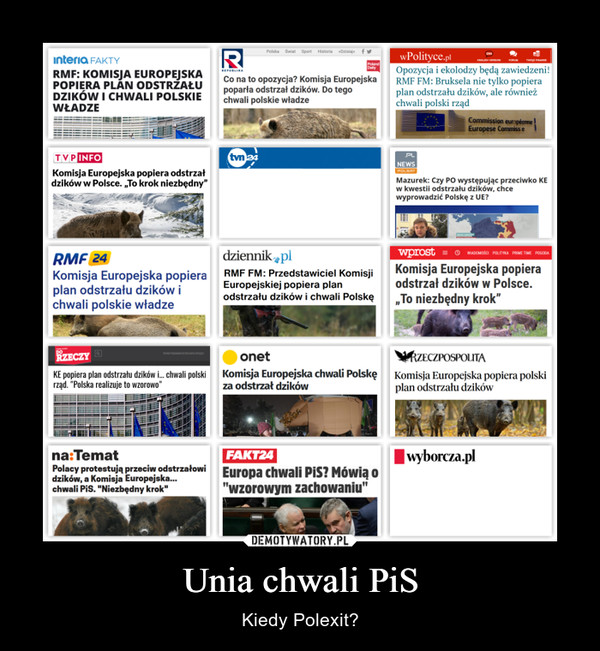 Unia chwali PiS