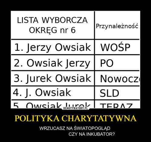 POLITYKA CHARYTATYWNA