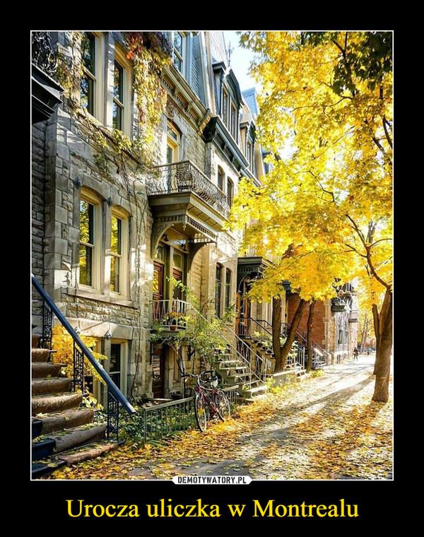 Urocza uliczka w Montrealu –