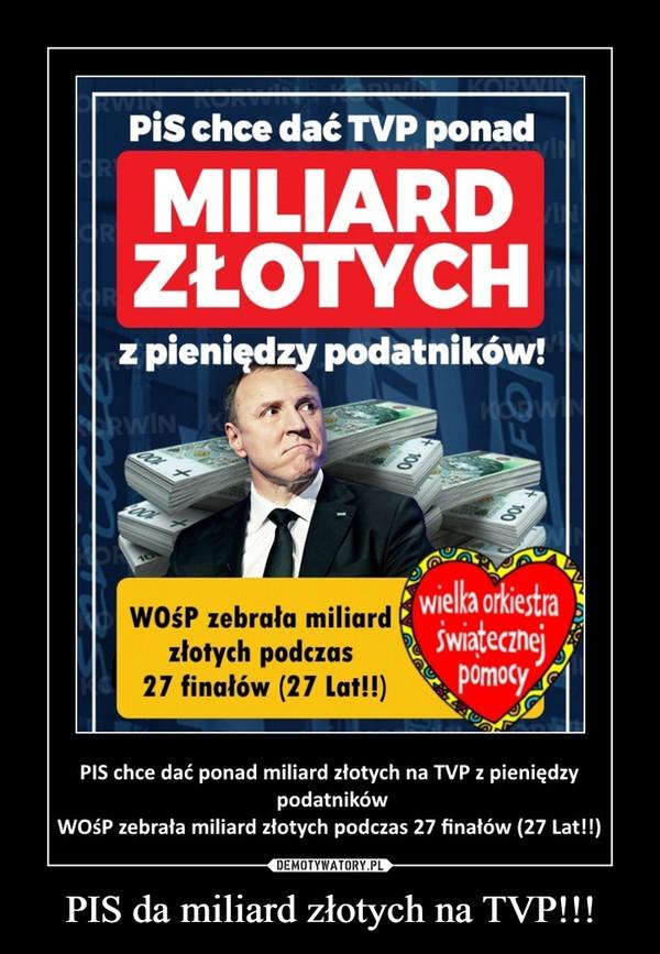 PIS da miliard złotych na TVP!!! –