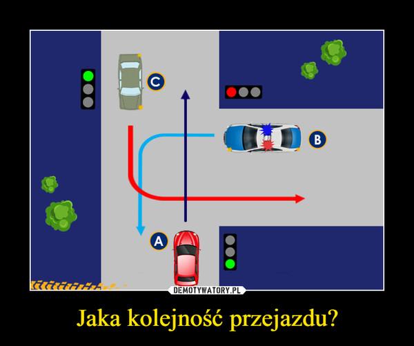 Jaka kolejność przejazdu? –