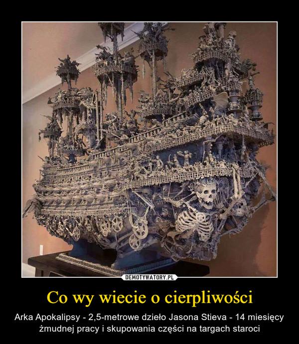 Co wy wiecie o cierpliwości – Arka Apokalipsy - 2,5-metrowe dzieło Jasona Stieva - 14 miesięcy żmudnej pracy i skupowania części na targach staroci