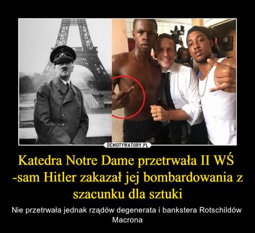 Katedra Notre Dame przetrwała II WŚ  -sam Hitler zakazał jej bombardowania z szacunku dla sztuki