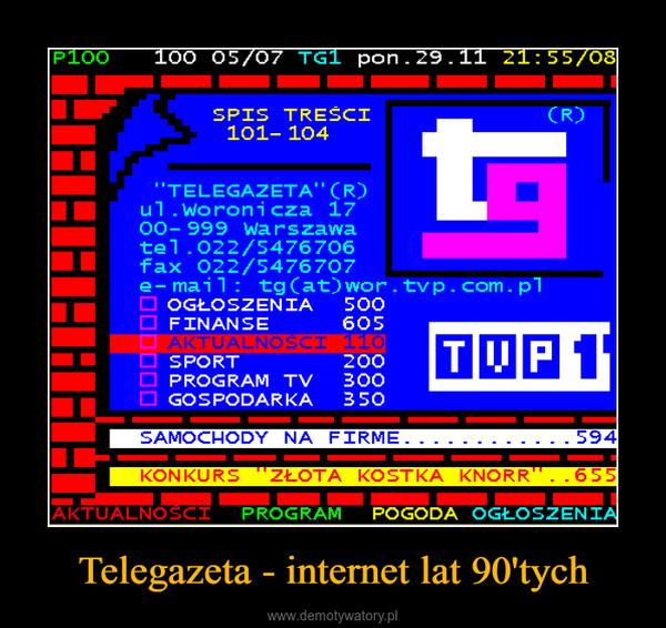Telegazeta - internet lat 90'tych –
