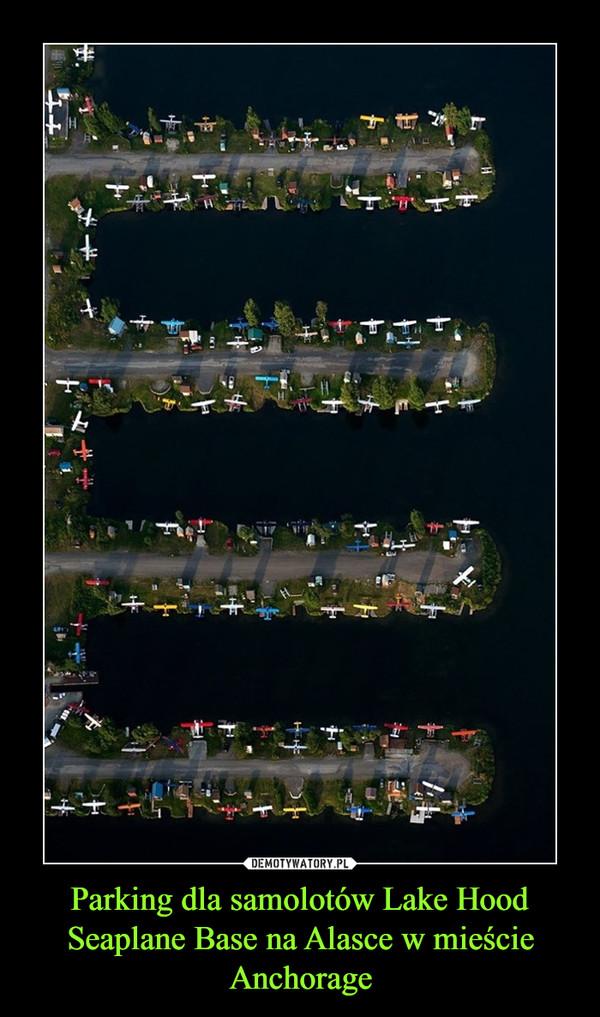 Parking dla samolotów Lake Hood Seaplane Base na Alasce w mieście Anchorage –