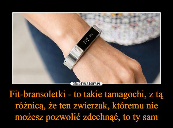 Fit-bransoletki - to takie tamagochi, z tą różnicą, że ten zwierzak, któremu nie możesz pozwolić zdechnąć, to ty sam –