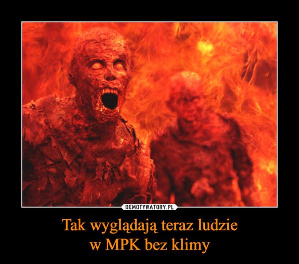 Tak wyglądają teraz ludziew MPK bez klimy –
