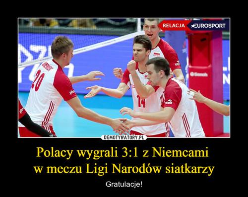 Polacy wygrali 3:1 z Niemcami  w meczu Ligi Narodów siatkarzy