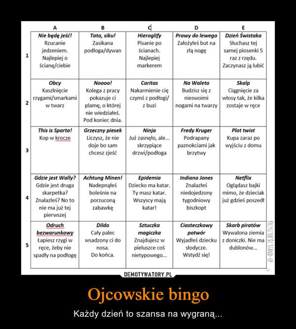Ojcowskie bingo – Każdy dzień to szansa na wygraną...
