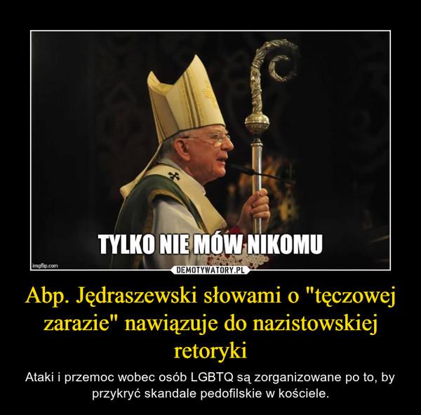 """Abp. Jędraszewski słowami o """"tęczowej zarazie"""" nawiązuje do nazistowskiej retoryki – Ataki i przemoc wobec osób LGBTQ są zorganizowane po to, by przykryć skandale pedofilskie w kościele."""