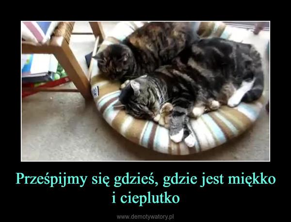 Prześpijmy się gdzieś, gdzie jest miękko i cieplutko –