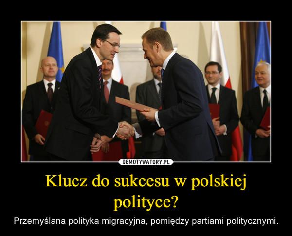 Klucz do sukcesu w polskiej polityce? – Przemyślana polityka migracyjna, pomiędzy partiami politycznymi.