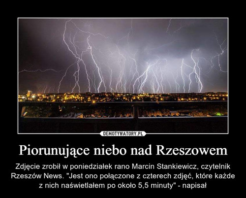 Piorunujące niebo nad Rzeszowem