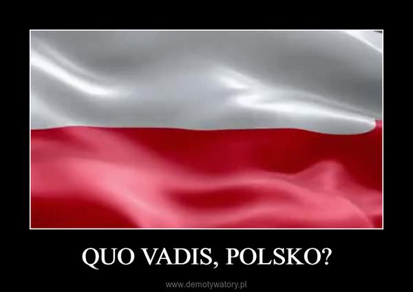 QUO VADIS, POLSKO? –