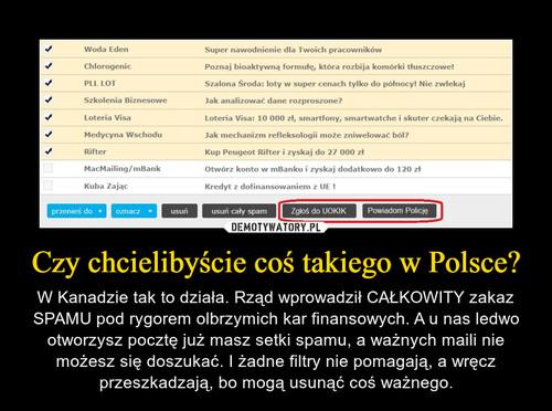 Czy chcielibyście coś takiego w Polsce?