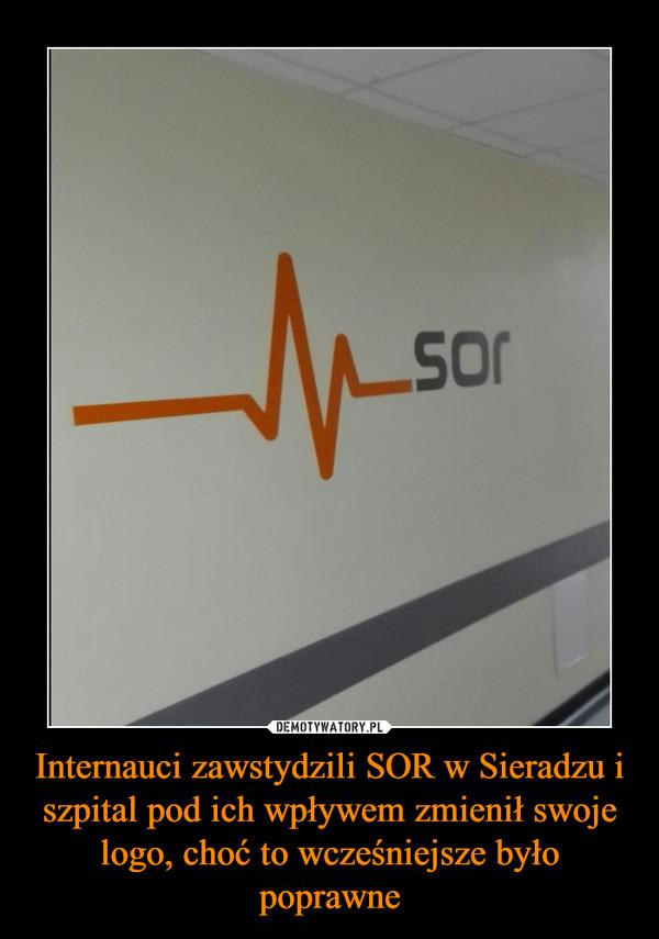 Internauci zawstydzili SOR w Sieradzu i szpital pod ich wpływem zmienił swoje logo, choć to wcześniejsze było poprawne –