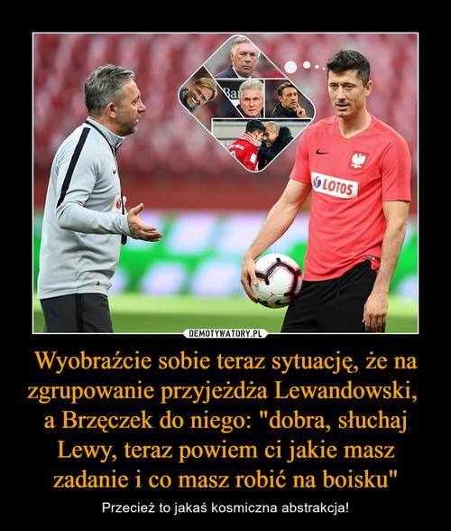 """Wyobraźcie sobie teraz sytuację, że na zgrupowanie przyjeżdża Lewandowski,  a Brzęczek do niego: """"dobra, słuchaj Lewy, teraz powiem ci jakie masz zadanie i co masz robić na boisku"""""""