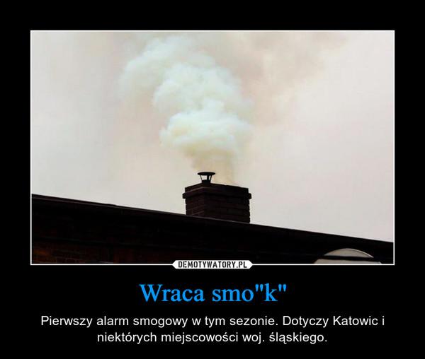 """Wraca smo""""k"""" – Pierwszy alarm smogowy w tym sezonie. Dotyczy Katowic i niektórych miejscowości woj. śląskiego."""