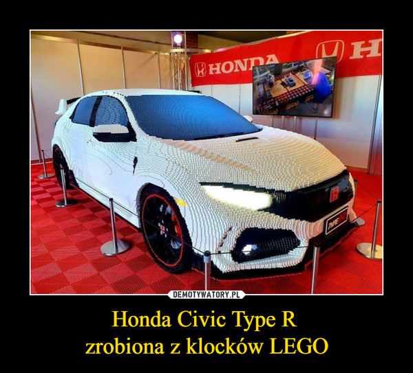 Honda Civic Type R zrobiona z klocków LEGO –  HONDA