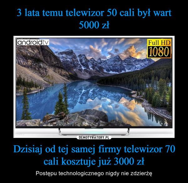 Dzisiaj od tej samej firmy telewizor 70 cali kosztuje już 3000 zł – Postępu technologicznego nigdy nie zdzierżę