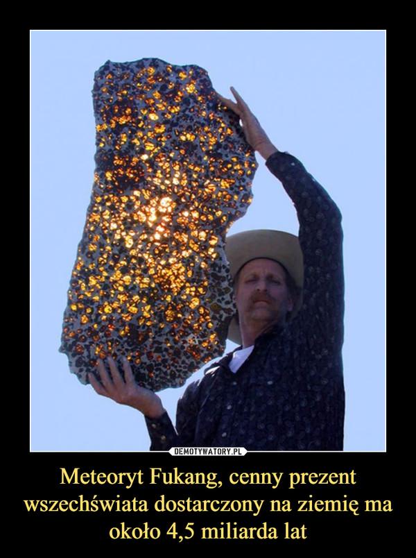 Meteoryt Fukang, cenny prezent wszechświata dostarczony na ziemię ma około 4,5 miliarda lat –