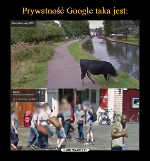 Prywatność Google taka jest: