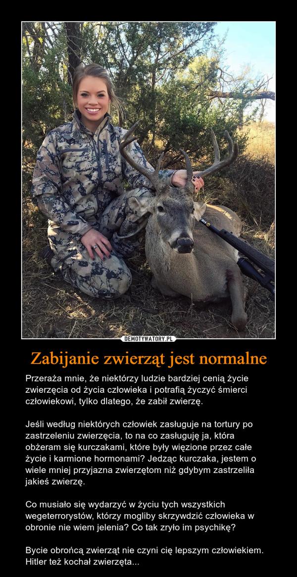 Znalezione obrazy dla zapytania Mordowanie ludzi w obronie zwierzat
