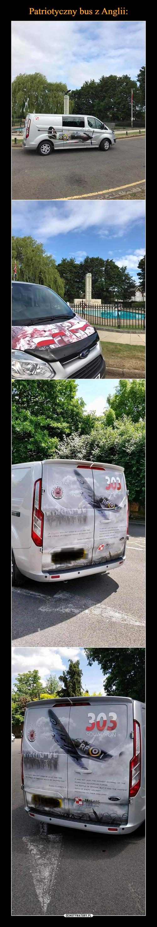 Patriotyczny bus z Anglii: