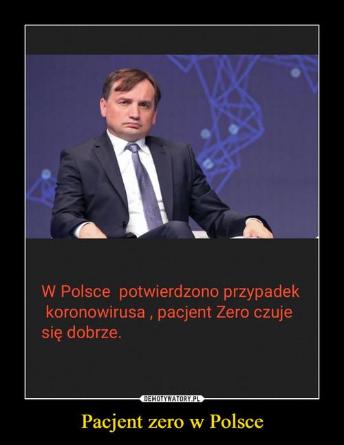 Pacjent zero w Polsce