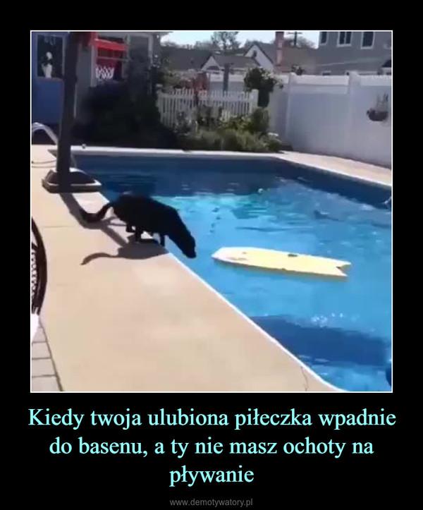 Kiedy twoja ulubiona piłeczka wpadnie do basenu, a ty nie masz ochoty na pływanie –