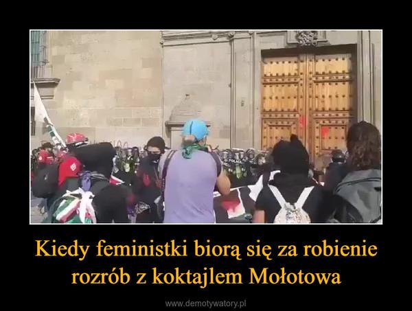 Kiedy feministki biorą się za robienie rozrób z koktajlem Mołotowa –