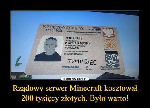 Rządowy serwer Minecraft kosztował 200 tysięcy złotych. Było warto!