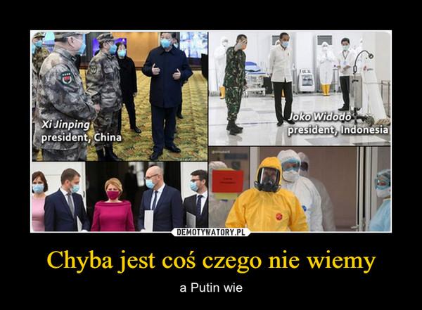 Chyba jest coś czego nie wiemy – a Putin wie