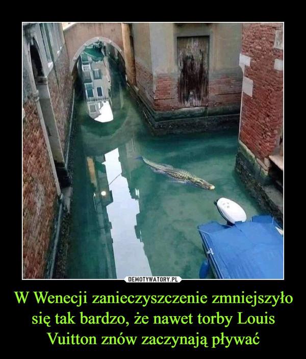W Wenecji zanieczyszczenie zmniejszyło się tak bardzo, że nawet torby Louis Vuitton znów zaczynają pływać –